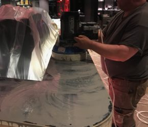 Marmorpindade taastamine teemantlihvimisega