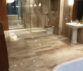Marmorpindade (põrandate  mikro teemantlihvimine, poleeri taastamine, impregneerimine)